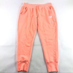 Victorias Secret Pink Cotton Jogger Sweats Large